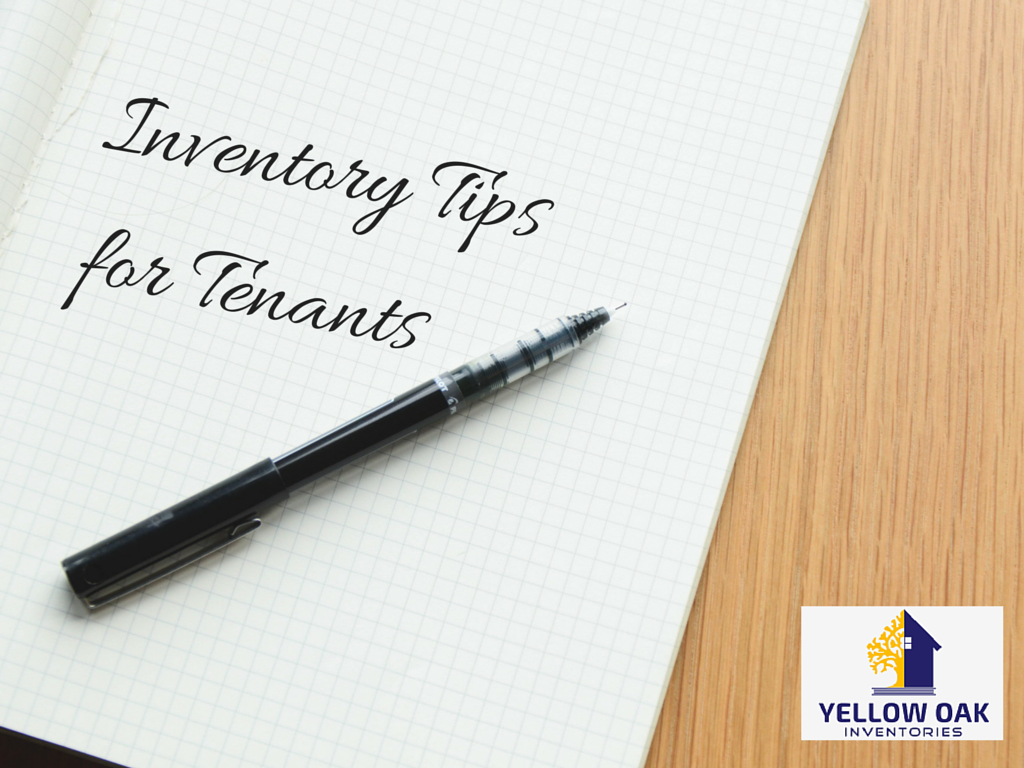 Inventory Tips for Tenants