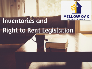 Inventories and Right to Rent